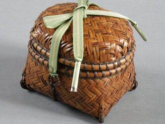 網代茶籠 燻煙千島笹 茶道具の画像