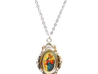 聖母子ゴシックデザインペンダントネックレスの画像