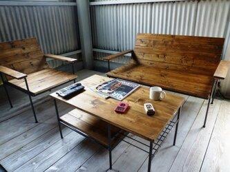 【 ソファセット 】 リビング ソファ ローテーブル セットの画像