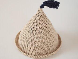【受注製作】baby エコアンダリヤのとんがり帽子の画像