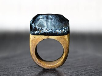 【送料無料】Snow Mountain ~Resin Wood Ring~の画像