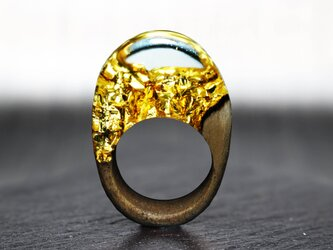 【送料無料】Modern Foil ~Resin Wood Ring~の画像