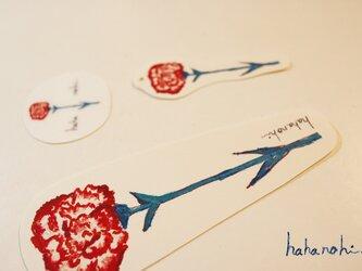 【母の日】ラッピングキット☆メッセージカード、ステッカー、ミニカードの画像