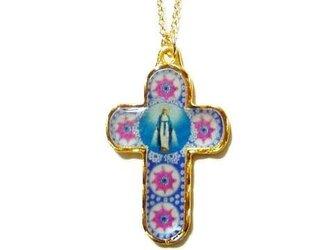 十字型聖母マリア様ペンダントネックレスの画像