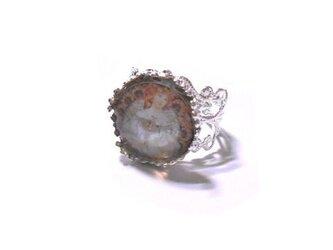 アルフォンス・ミュシャ「夢想」の絵柄リング指輪の画像
