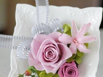 陶器フレーム(淡いピンク)の画像