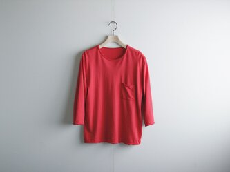 pj cotton cut off  t-shirt/red/size1&2の画像