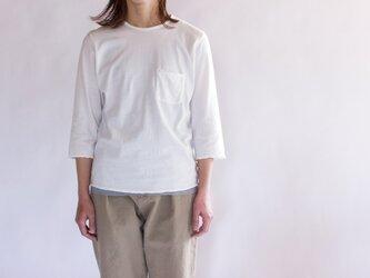 pj cotton cut off  t-shirt/white/size1&2の画像