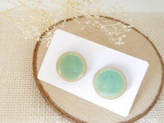 陶器ピアス•イヤリング  greenの画像
