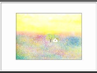 「春の宴」 ほっこり癒しのイラストA4サイズポスターNo.647の画像