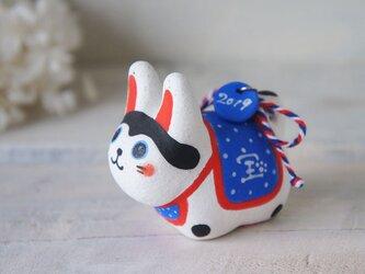 陶器の小さなカラフル犬張り子*Bの画像