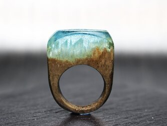 【Sale45%off】Milky Wood~Resin Wood Ring~の画像