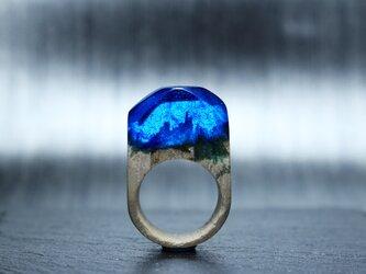 【送料無料Sale45%off】Deep sea~Resin Wood Ring~の画像