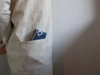 手ふきん(藍+びわの葉 鉄媒染)の画像