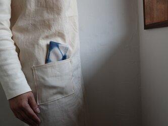 手ふきん(藍+カラスノエンドウ 鉄媒染)の画像