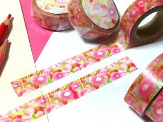 花柄マスキングテープの画像