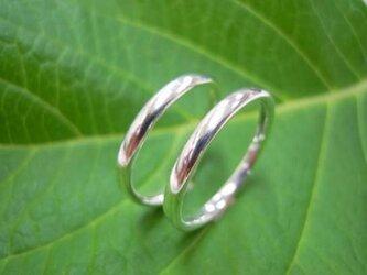 PT手作り結婚指輪☆シンプルな甲丸・マリッジリングの画像