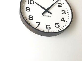 KATOMOKU plywood clock 15 km-92BRC ブラウン 電波時計 連続秒針 大きい時計の画像