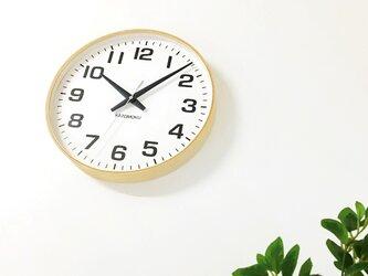 KATOMOKU plywood wall clock 15 km-92NRC ナチュラル 電波時計 連続秒針 大きい時計の画像
