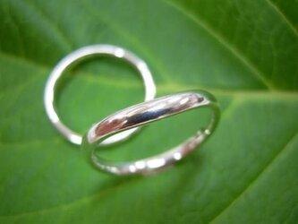PT手作り結婚指輪☆V形の甲丸・マリッジリングの画像