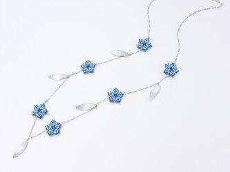 星のネックレス・ブルー・426の画像