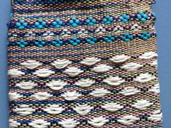 手織り☆ミニポーチ シルクの画像