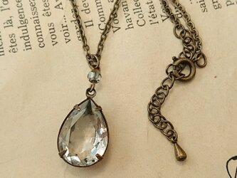 ヴィンテージクリスタルのネックレスの画像