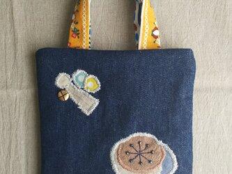 デニムのミニバッグ(tenshi to hana)の画像