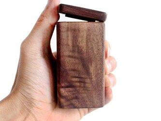受注生産 職人手作り 楊枝入れ 木製 雑貨 おしゃれ 爪楊枝 ウォールナット ウッドデザイン ダークブラウン ナチュラルの画像
