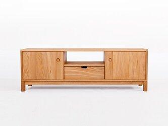 オーダーメイド 職人手作り ローボード テレビ台 テレビボード 収納 無垢材 木目 天然木 木工 エコ LR2018の画像