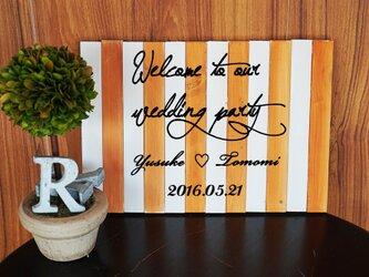 四季のウェルカムボード・バイカラーver・木製A4サイズ♪ガーデンウェディング、ナチュラルな結婚式に♪の画像