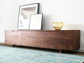受注生産 職人手づくり ナチュラル ウッド 北欧家具 ローボード テレビ台 集成材 サイズオーダー可 天然木 木工 国産の画像