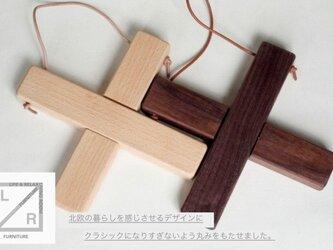 受注生産 職人手作り 鍋敷き 小 シンプル ラッセントレー風 ウォールナット デザイン モダン 北欧風 雑貨 木工 木目の画像