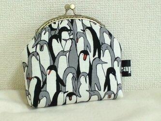 がま口ポーチM(ペンギン)の画像