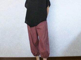 バルーンなパンツ(ボルドー)の画像