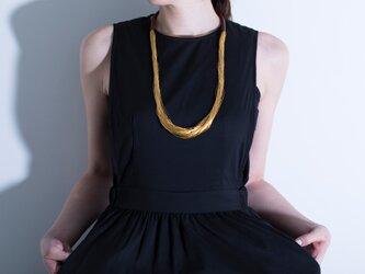 絲tabane 舛花漆(青)ネックレス の画像