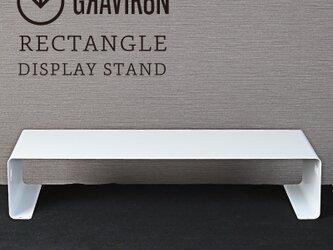 RECTANGLE ディスプレイスタンド (クリアホワイト) - GRAVIRoNの画像