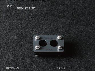 Joint Series Pen stand ペンスタンド (酸洗鉄 × 黒皮鉄) - GRAVIRoNの画像