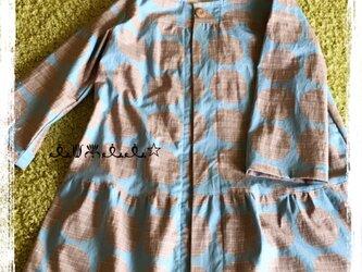 まんまるコート(ブルー)の画像