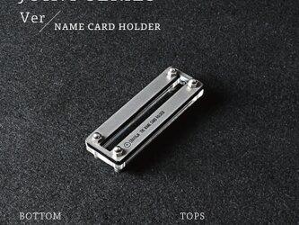 Joint Series Namecard Holder 名刺スタンド (アクリル × 酸洗鉄) - GRAVIRoNの画像