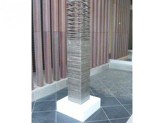 ステンレスの彫刻 「ZA」(ざ)の画像