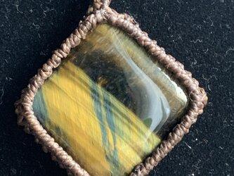 アイアンタイガーアイの編み編みペンダント♪の画像
