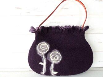 フリフリミニバッグ *エレガントローズ*紫紺*の画像