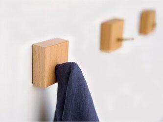 受注生産 職人手づくり ウォールラック ハンガーラック コートハンガー 木目 ウォールナット 雑貨 北欧モダン 木工の画像