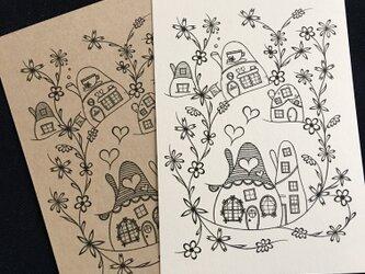 花の街4 ポストカード2枚セットの画像