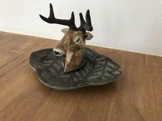 鹿のアクセサリー置きの画像