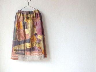 アジアの布の花盛り~キルトスカートの画像