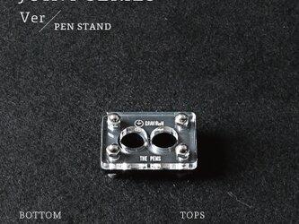 Joint Series Pen stand ペンスタンド (黒皮鉄 × アクリル) - GRAVIRoNの画像
