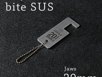 bite SUS 20mm スマートフォンスタンド (ステンレス) - GRAVIRoNの画像