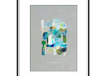 「フルーツ&スピリッツ」 ほっこり癒しのイラストA4サイズポスターNo.649 半光沢紙の画像